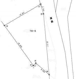 新館地籍測量図